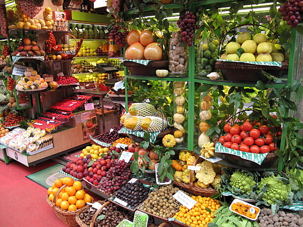 Selected fruits and vegetables